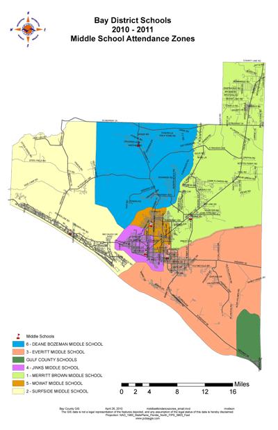 Panama City Florida Middle School Zone Map